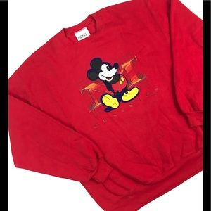 DISNEY MICKEY MOUSE SWEATSHIRT LARGE L CREWNECK